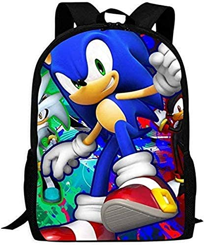 AQEWXBB Laptop Backpacks Casual Daypack Backpacks Sonic The Hedg-Ehog Children's School Bags Printing Backpacks Kids Daypack for Boys Girls