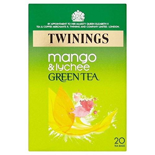 Twinings Grüner Tee mit Mango und Litschi 20 pro Packung (2 Stück)