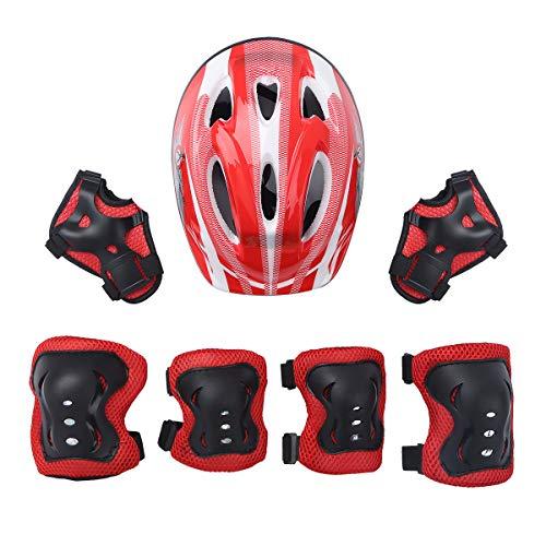 IEFIEL Casco Infantil de Bicicleta Casco de Protección Seguridad Ajustable para Niñas...