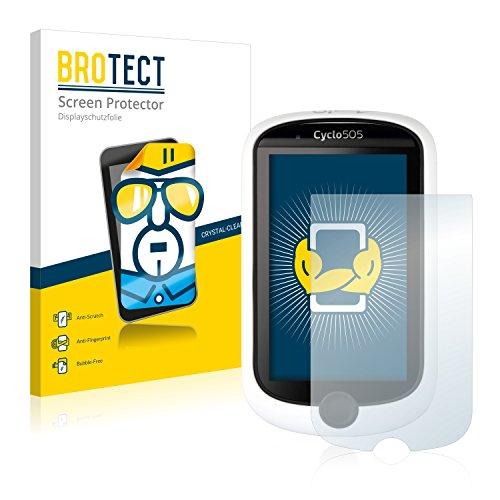 BROTECT Protector Pantalla Compatible con Mitac Mio Cyclo 505 HC Protector Transparente (2 Unidades) Anti-Huellas