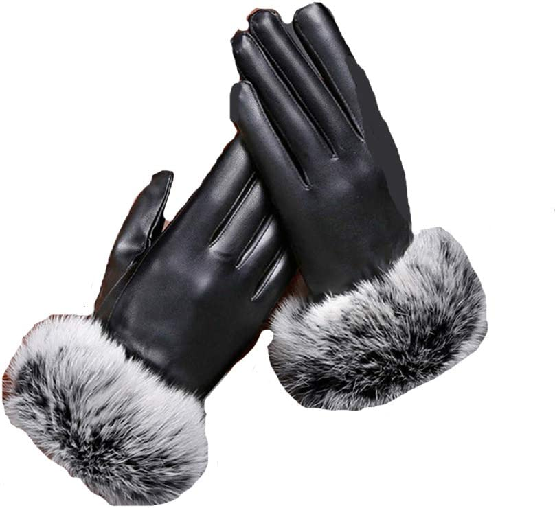 Household items 2020, Ladies Plus Warm Gloves for Autumn and Winter, Full Palm Touch Screen, Leather Gloves