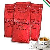 BOCCA DELLA VERITA - Caffè Italiano in Grani, Aroma ANGEL 100% ARABICA, 3 Sacchi da 1 Kg, Caffè Tostato Naturalmente e Artigianalmente 100% Made in Italy, Certificato Rainforest e UTZ