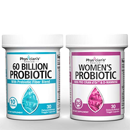Probiotics 60 Billion CFU & Women's Prebiotics & Probiotics Bundle