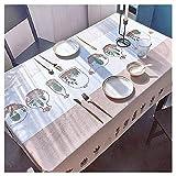 JJRYPSH Impermeable Anti-Manchas PVC Mantel,Lavable Rectangular Mantel para Mesa Aplicar para Cocina Restaurante Picnic Mesas Cubierta,J-120x170cm(47x67inch)