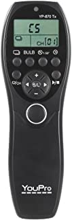 YP-870 N3 2.4G Wireless Remote Control LCD Timer Shutter Release Transmitter Receiver 32 Channels for Canon 7D 5D 5D2 5D3 ...