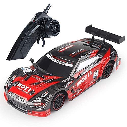 WGFGXQ 39KM / h Coche de Carreras RC de Alta Velocidad 2.4G Control Remoto Profesional Drift Sports Car 1:18 Tracción en Las Cuatro Ruedas Juguete para Adultos Simulación de Carreras Juguetes para