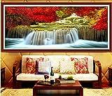 5D Diamond Painting Full Kit Mangrove Waterfall.Png Completo Trapano Pittura Diamante 5D DIY Motivo Ricamo a Punto Croce Con Perline Decor Da Parete Per Il Ufficio Soggiorno Round Drill 70x180cm A6412
