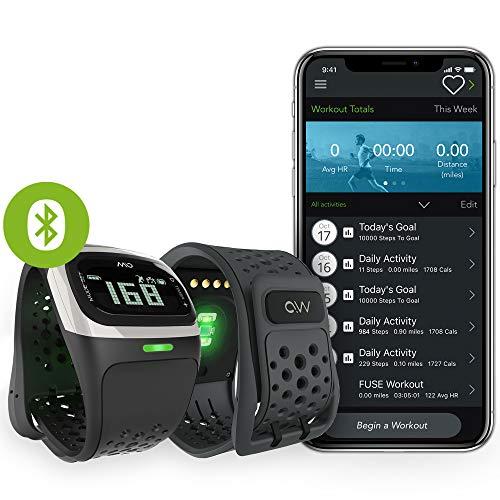 MIO Alpha LED Activity Tracker mit Herzfrequenzmessung - Ohne Brustgurt - Einstellbare Herzfrequenzzonen - EKG-genaues Fitnessarmband App- wasserdicht - 14,7 - 19 cm Handgelenkumfang - Weiß