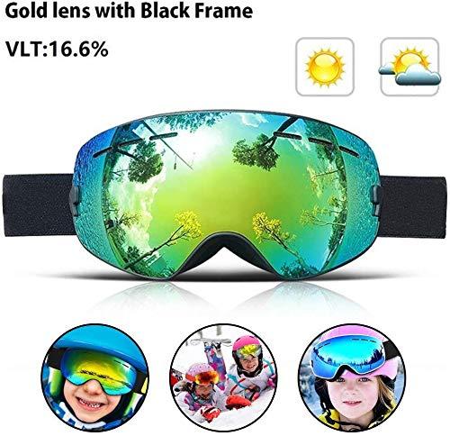 ASPORT Kinder-Skibrille, Snowboardbrillen Kleine Größe for Kinder, Ski-Maske Gläser mit Doppel...