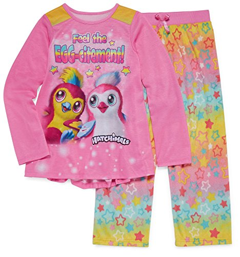 Hatchimals Girls Long Sleeve Pajamas 6-12 (M (7/8))