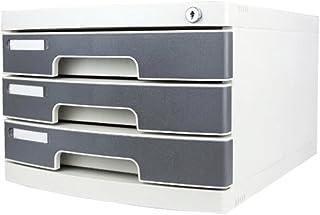 Armoires de classement à 3 Couches avec verrou Type de tiroir de Bureau Blanc Office