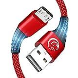 Câble Micro USB [2m/Lot de 2],3A Cordon Charge Rapide pour Android Cable Chargeur Nylon Tressé...