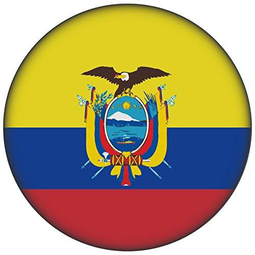 FanShirts4u Button/Badge/Pin - I Love ECUADOR Fahne Flagge (Ecuador/Flagge)