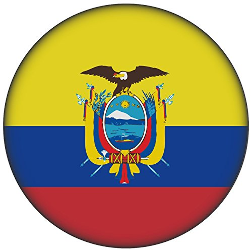 FanShirts4u Button/Badge/Pin - I Love ECUADOR Fahne Flagge (Ecuador/Flagge)