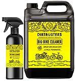 Limpiador bio ecológico para bicicleta o motocicleta de Dirtbusters, recarga de 5litros y aerosol de 1litro con microbios y enzimas para un ciclo ecológico para eliminar la suciedad