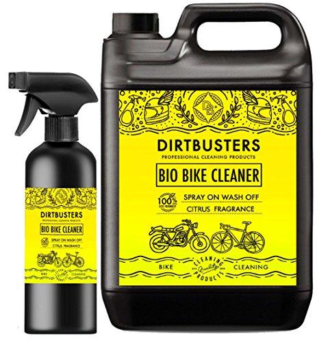 Dirtbusters Bio Fahrrad- und Motorradreiniger, 5 l Nachfüllpackung und 1 l Spray, mit Mikroben und Enzymen für eine leistungsstarke, ökologische Reinigung