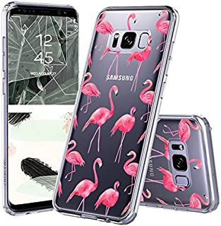 MOSNOVO Galaxy S8 Plus Case, Galaxy S8 Plus Case for Women, Cute Flamingo Tropical Clear Design Printed Plastic Back Case with TPU Bumper Protective Case Cover for Samsung Galaxy S8 Plus (2017)