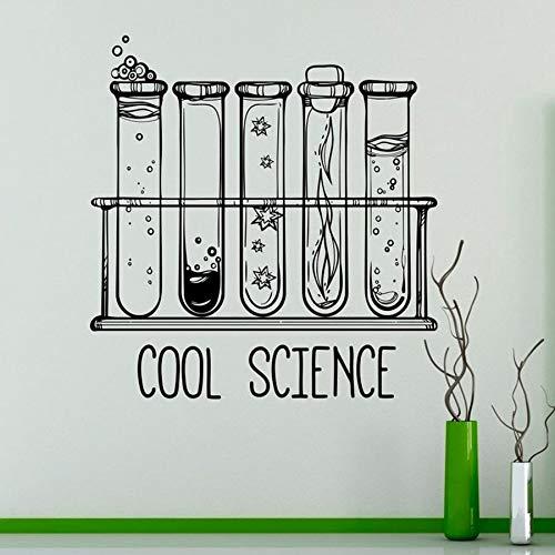Tianpengyuanshuai laboratoriumwandstickers wetenschap reageerbuis vinyl zelfklevend chemische decoratie klaslokaal slaapkamer