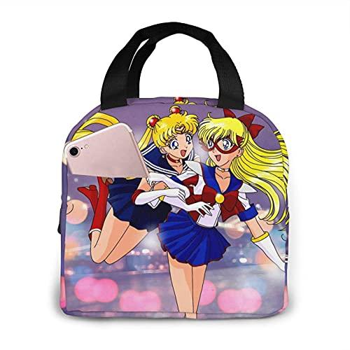 Sailor Moon - Bolsas de almuerzo reutilizables para mujer y hombre, bolsa térmica aislada, para el trabajo, la escuela, la pesca