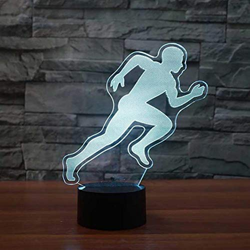 Nachtlampje Touch Running Action modellering 3D tafellamp LED slaapkamer slaap nachtlichten kleurverloop sfeerlicht kinderen nachtkastje decoratieve lamp