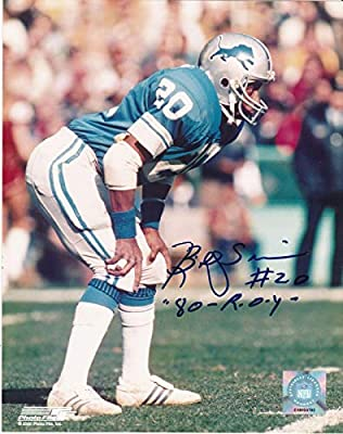 Billy Sims Signed Photograph - ROY 80 8x10 - Autographed NFL Photos