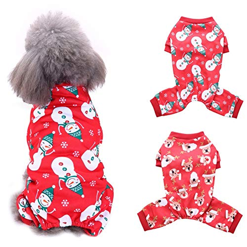 Handfly Pijamas para Perros Mono Ropa para Navidad Perrito Abrigo de Invierno Abrigo para Mascotas Ropa para Perros...