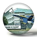 Hqiyaols Souvenir Museo de Vuelo de Seattle Washington Imán de Nevera de Recuerdo 3D Imanes de Nevera de Cristal de círculo de Regalo de Viaje
