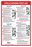 CPR and Choking Poster for Infant, Child,...