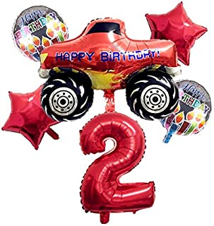 ANGELIE FRANCE -Ballons & Accessories - 6pcs Blaze And The Monster Machines Foil Ballon Happy Birthday Party Decoration Ba...