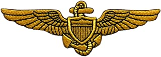 Naval Aviator Pilot Wings Patch [Iron on Sew on 4.0 X 1.5 -PW5]