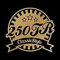 250TR Classic Style カッティング ステッカー ゴールド 金