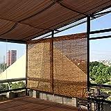 YUANJJ Persianas Enrollables De Bambú - Persianas De Caña - Cortinas Opacas, Anticorrosión Prueba De Polvo, Adecuado para Patios, Jardines, Interiores, Exteriores, Personalizables