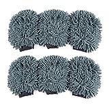 Anladia 6 Set Wasserdicht Mikrofaser Waschhandschuh Autowaschhandschuh Reinigungshandschuh...