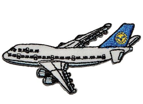 alles-meine.de GmbH Flugzeug 7 cm * 3,5 cm Bügelbild - Aufnäher Applikation Flugzeuge Reise Düsenjet Urlaubsflieger Flugreise