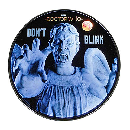 Doctor Who Weeping Angel Qi Wireless Charger, 8000 mAh Backup Battery Pack for Wired USB and Wireless Charging. Portable Phone Charger with Illuminated Angel. Doctor Who Gifts, Collectibles, Gadgets