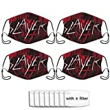 AdamBGeorge Slayer The Vinyl Conflict Outdoor Bandanas,Dustproof Scarf,Face Cover,Decorative Masks,Mouth Guard,Balaclava,Neck Gaiter (4 Pack)