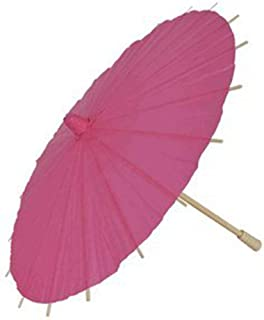 Just Artifacts Brand - 12-Inch Mini Paper Parasol Chinese/Japanese Umbrella - Color: Bubblegum Pink
