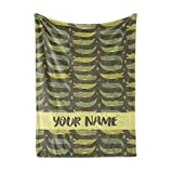 Personalized Custom Alligator Fleece and Sherpa Throw Blanket for Boys, Girls, Kids, Baby - Toddler Crocodile Blankets Perfect for Bedtime, Bedding or as Gift