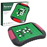 Magnetic Travel Reversi Chess Set with 2 Storage Space - Chess Board Game Educational Toys for Kids and Adults