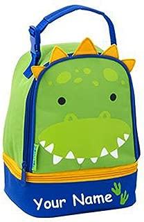 Stephen Joseph Personalized Green Dinosaur Dino Lunch Pals Lunch Box Bag