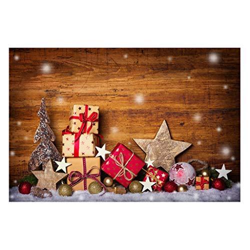 Flow.month Winwintom 3D Tapiz de Navidad Fondo de Pared Paño Linterna Estrella Decoración del hogar Tela de Fondo...