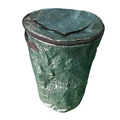 JIAJU Collapsible Garden Compost Bin, Yard Waste Bag Composting Fruit Kitchen Waste Fermentation Secrets Growers Bags for Lawn and Yard Waste,353560Cm