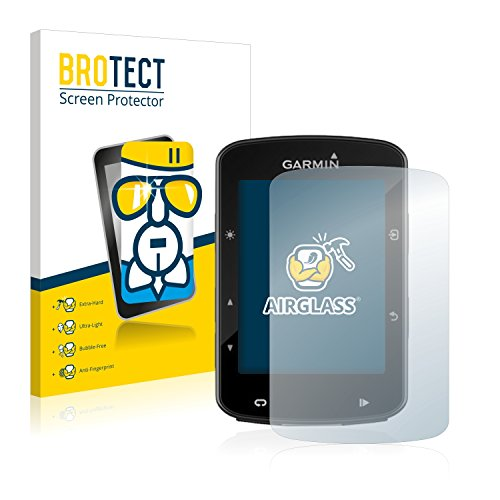 BROTECT Protector Pantalla Cristal Compatible con Garmin Edge 520 Plus Protector Pantalla Vidrio - Dureza Extrema, Anti-Huellas, AirGlass