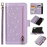 Snow Color Galaxy S10e Hülle, Premium Leder Tasche Flip Wallet Case [Standfunktion]...