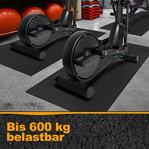 Floordirekt Strapazierfähige Bodenschutzmatte für Fitnessgeräte | rutschfest, geräuschdämmend, fußwarm | Unterlegmatte für Laufband Crosstainer Rollentrainer | 91 x 198 cm
