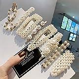 Prendedores para el cabello con perlas, 8 pcs. Perlas artificiales para el cabello. Perlas decorativas para el cabello. Accesorios para el cabello hechos a mano para niñas y mujeres,StyleSet8