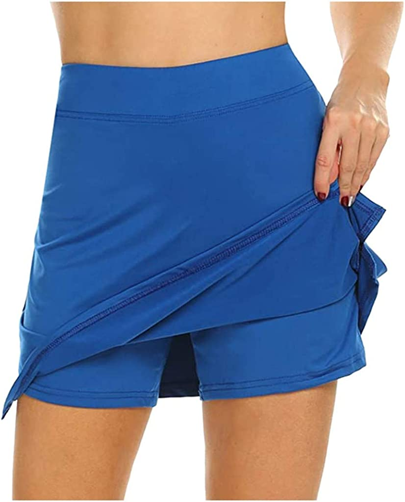 Women's Athletic Skorts Breathable Skirts Inner Shorts for Tenni