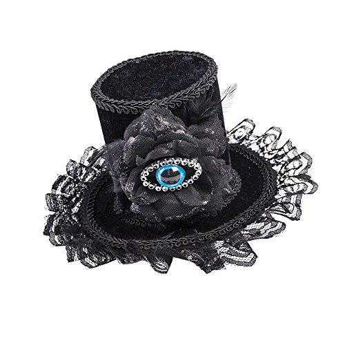 Forum Novelties X76627 mauvais œil Chapeau, pour femme, noir, taille unique