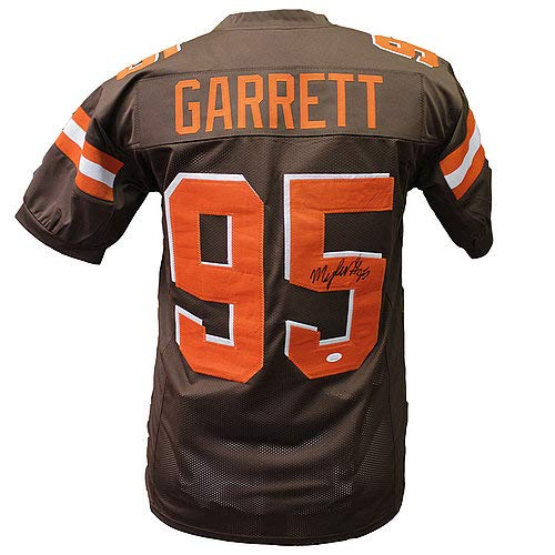 Authentic Autographed Myles Garrett Cleveland Browns Home Jersey Silk Arm Band ~ JSA Certified