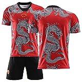 BKDVEC La Camiseta del dragón Chino, el Uniforme de fútbol Manchester United Memorial, el Uniforme de Entrenamiento de Partido, cómodo y Transpirable, se Puede Lavar repetidamente-blank-22
